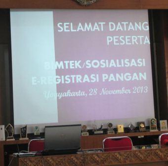 Bimtek E-Registration Pangan dan Sertifikasi Halal di Balai Besar POM Yogyakarta