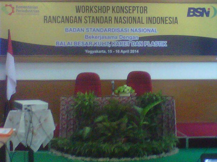 Workshop Konseptor Rancangan SNI 2014 di Yogyakarta